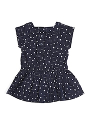 United Colors of Benetton Girls Navy Printed Fit & Flare Dress
