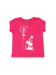 United Colors of Benetton Infant Girls Pink Printed T-shirt