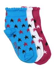 United Colors of Benetton Girls Set of 3 Socks
