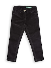United Colors of Benetton Girls Black Stretch & Skinny Fit Trousers