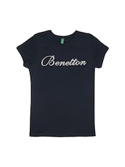 United Colors of Benetton Girls Navy T-shirt