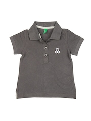United Colors of Benetton Girls Grey Polo T-shirt