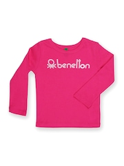 United Colors of Benetton Girls Pink T-shirt