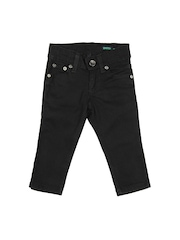 United Colors of Benetton Boys Black Skinny Fit Jeans