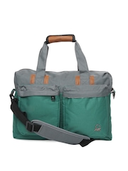 United Colors of Benetton Men Green & Grey Laptop Bag