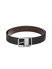 United Colors of Benetton Men Black & Brown Reversible Leather Belt