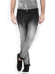 United Colors of Benetton Men Black Carrot Fit Jeans