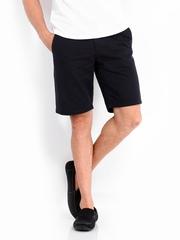 United Colors of Benetton Men Black Shorts