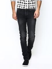 United Colors of Benetton Men Black Slim Fit Jeans