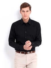 United Colors of Benetton Men Black Smart-Casual Shirt