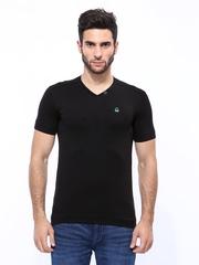 United Colors of Benetton Men Black T-shirt