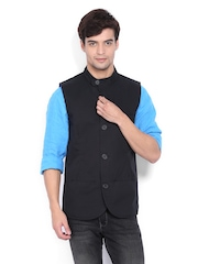 United Colors of Benetton Men Black Waistcoat