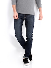 United Colors of Benetton Men Blue Slim Stretch Fit Jeans