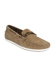 United Colors of Benetton Men Brown Leather Boat Shoes