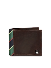 United Colors of Benetton Men Brown Leather Wallet