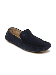 United Colors of Benetton Men Blue Suede Loafers