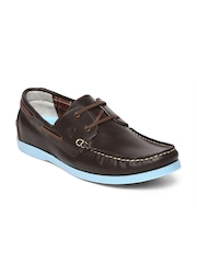 United Colors of Benetton Men Brown Boat Shoes
