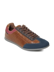United Colors of Benetton Men Brown & Navy Casual Shoes