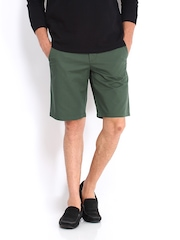 United Colors of Benetton Men Olive Green Shorts