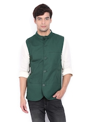 United Colors of Benetton Men Green Waistcoat