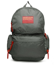 United Colors of Benetton Men Grey Backpack