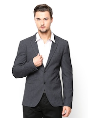 United Colors of Benetton Men Grey Formal Blazer