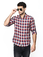 United Colors of Benetton Men Multicoloured Checked Linen Casual Shirt