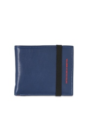United Colors of Benetton Men Navy Leather Wallet