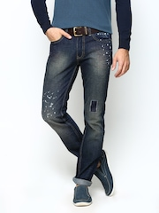 United Colors of Benetton Men Navy Slim Fit Jeans