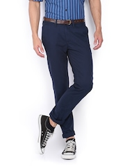 United Colors of Benetton Men Navy Slim Fit Chino Trousers