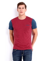 United Colors of Benetton Men Red Melange T-shirt