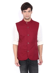 United Colors of Benetton Men Maroon Waistcoat