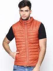 United Colors of Benetton Men Orange Sleeveless Jacket