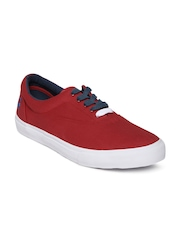 United Colors of Benetton Men Red Canvas Shoes