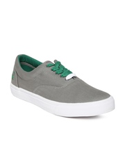 United Colors of Benetton Men Grey Canvas Shoes
