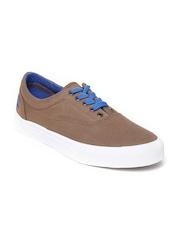 United Colors of Benetton Men Brown Canvas Shoes