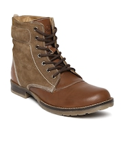 United Colors of Benetton Men Brown Boots