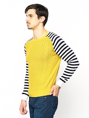 United Colors of Benetton Men Yellow Sweater