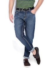 United Colors of Benetton Men Blue Carrot Fit Jeans