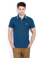 United Colors of Benetton Men Blue Polo T-shirt