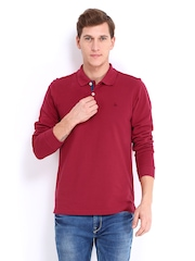United Colors of Benetton Men Red Polo T-shirt