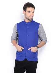 United Colors of Benetton Men Blue Waistcoat