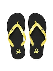 United Colors of Benetton Men Yellow Flip-Flops