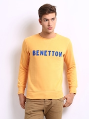 United Colors of Benetton Men Yellow Sweatshirt