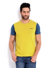 United Colors of Benetton Men Yellow T-shirt