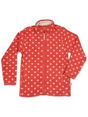 United Colors of Benetton Kids Coral Orange Polka Dot Print Jacket