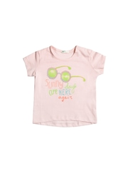 United Colors of Benetton Kids Pink Printed T-Shirt