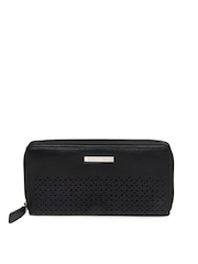 United Colors of Benetton Women Black Leather Wallet