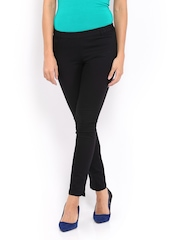 United Colors of Benetton Women Black Treggings