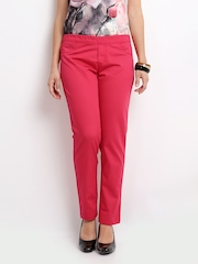 United Colors of Benetton Women Fuchsia Pink Jeggings